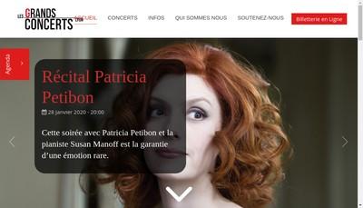 Site internet de Les Grands Concerts