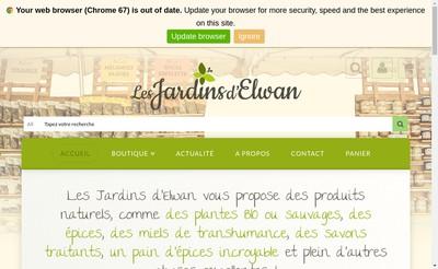 Site internet de Les Jardins d'Elwan