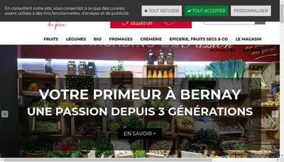 Site internet de Les Magasins de la Passion