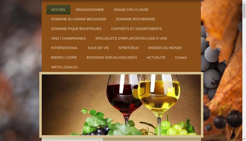 Capture d'écran du site de Les Maitres Chais Internationaux