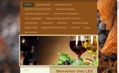 Site internet de Les Maitres Chais Internationaux
