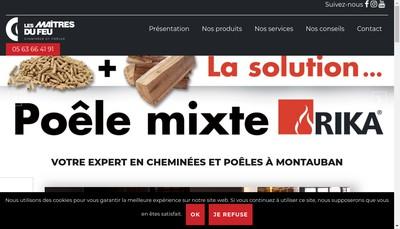 Site internet de Les Maitres du Feu
