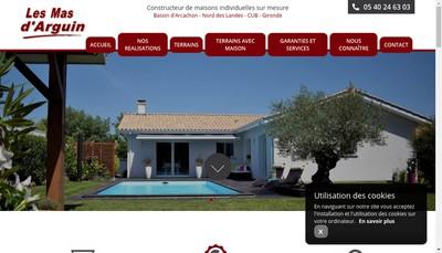 Site internet de Les Mas d'Arguin