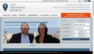 Site internet de Les Nouveaux Agents