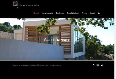 Site internet de SARL les Nouveaux Menuisiers