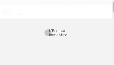 Capture d'écran du site de L'Espace Immobilier