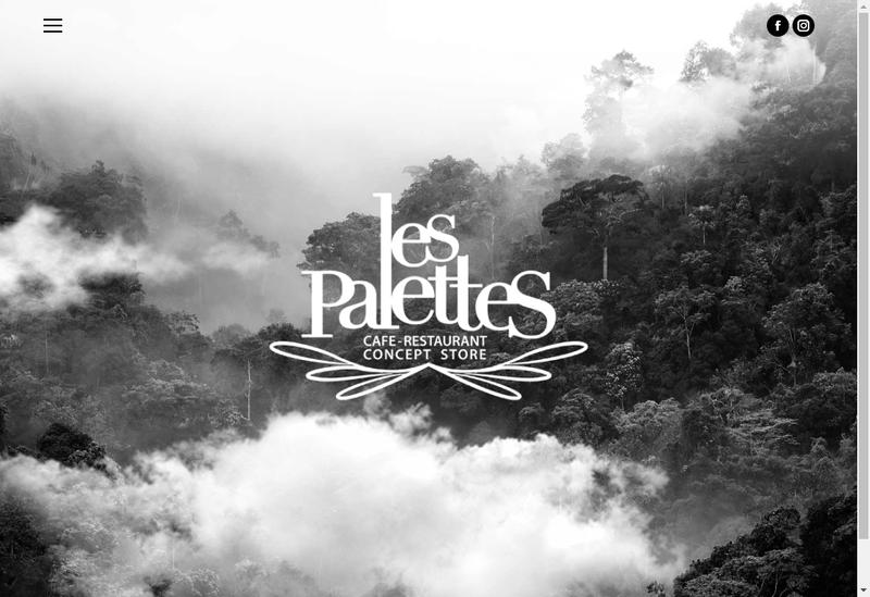 Capture d'écran du site de Les Palettes