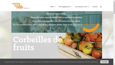 Site internet de Les Paniers de Lea