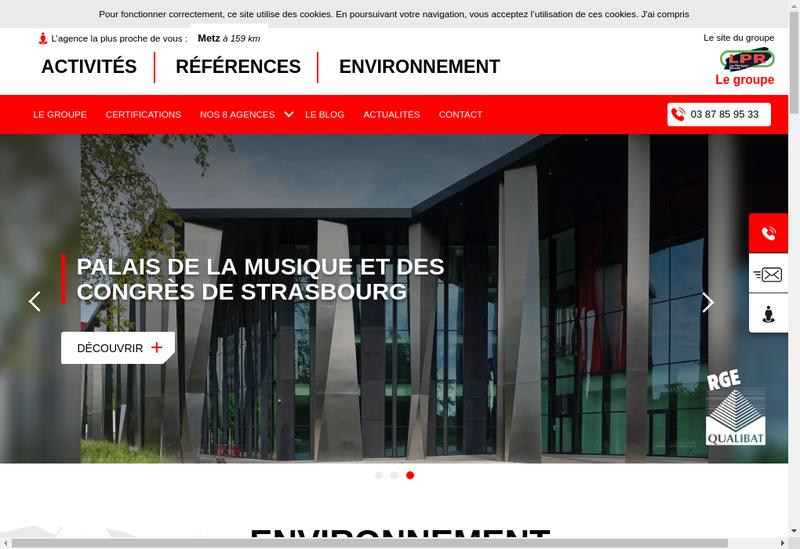 Capture d'écran du site de Les Peintures Reunies