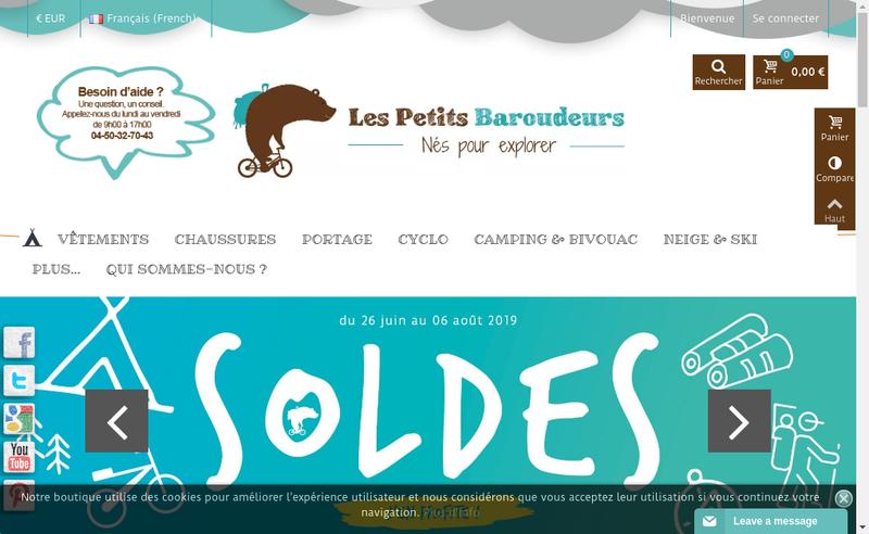Capture d'écran du site de Zeoutdoor