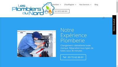 Site internet de Les Plombiers du Nord