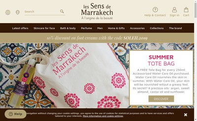 Site internet de Les Sens de Marrakech
