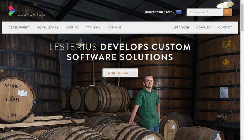 Capture d'écran du site de Lesterius