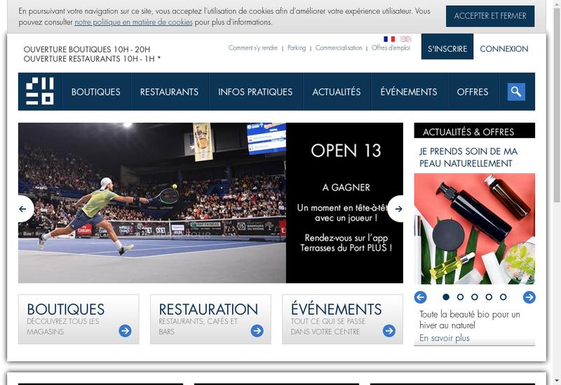 Capture d'écran du site de Hammerson Marketing & Communication