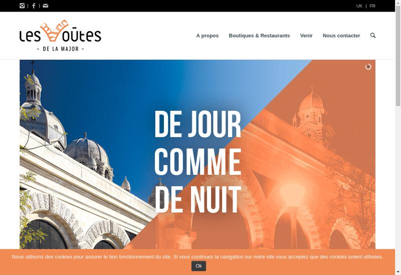 Capture d'écran du site de La Cathedrale Sainte Marie La Majeure