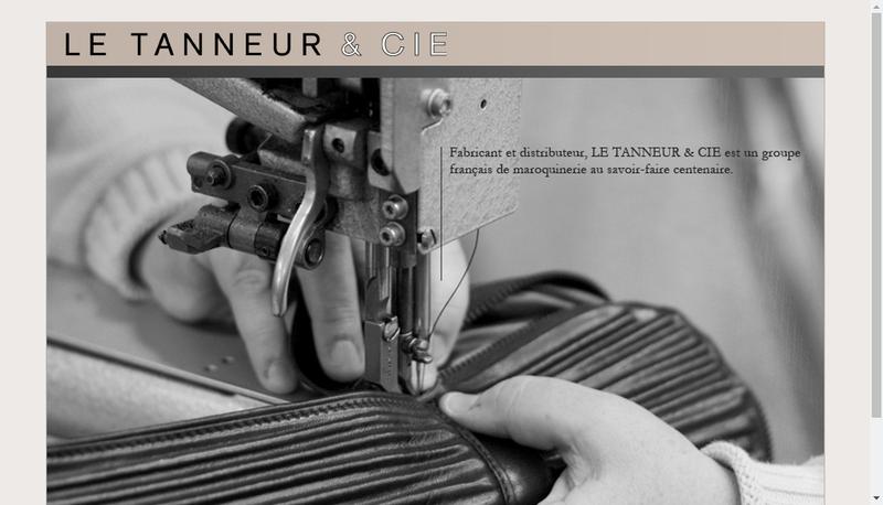 Capture d'écran du site de Le Tanneur