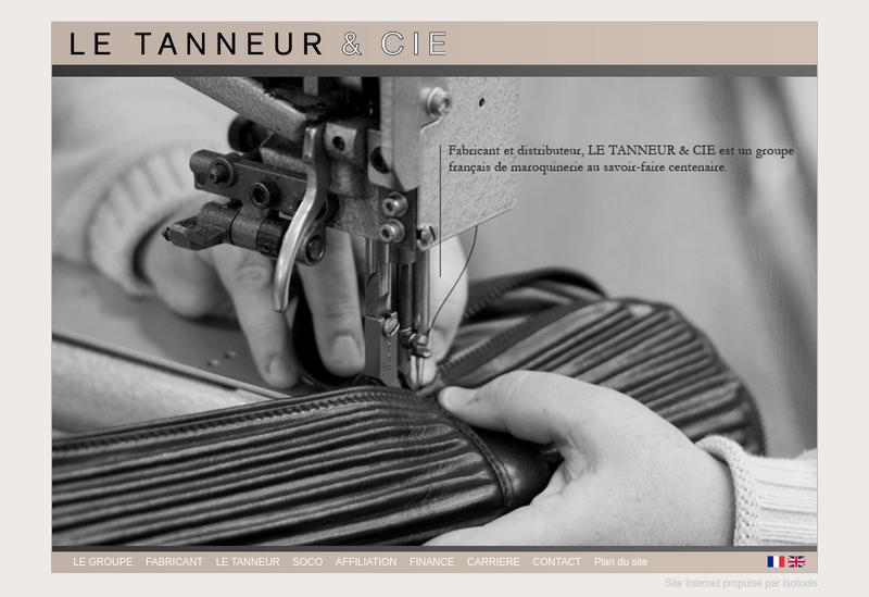 Capture d'écran du site de Maroquinerie des Orgues