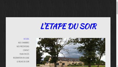 Capture d'écran du site de L'Etape du Soir