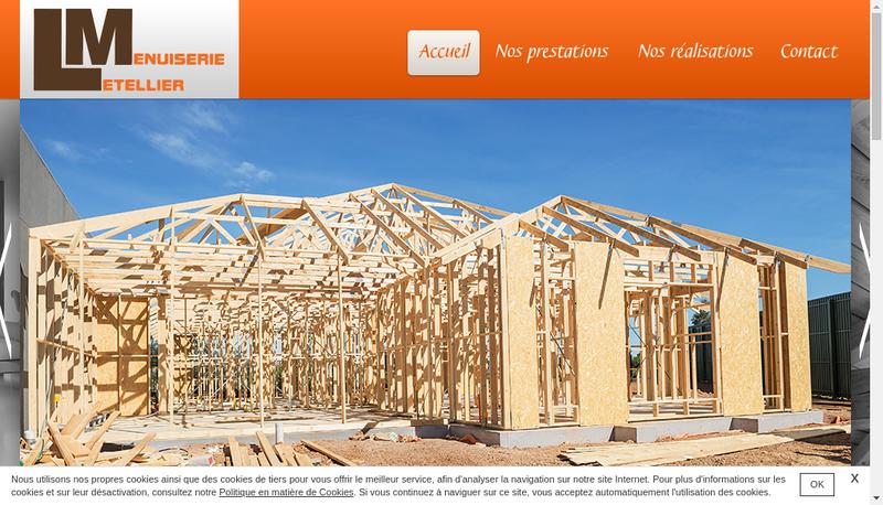 Capture d'écran du site de Menuiserie Letellier