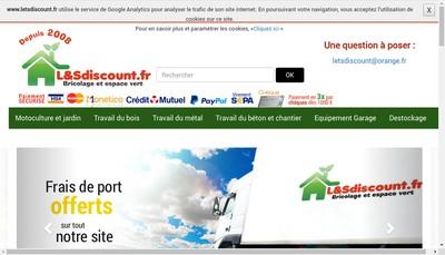 Site internet de Lets Discount France