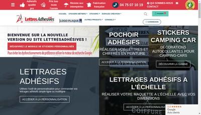 Site internet de Lettres Adhesives 26