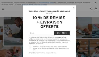 Site internet de Levi'S Footwear & Accessories France