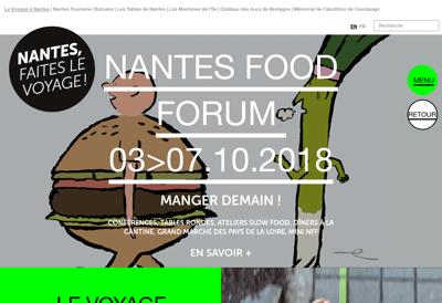 Capture d'écran du site de Le Voyage à Nantes
