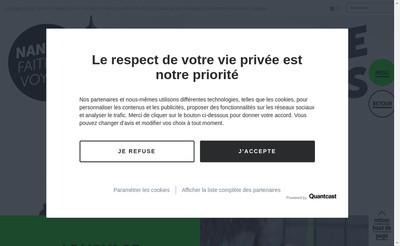 Site internet de Le Voyage a Nantes