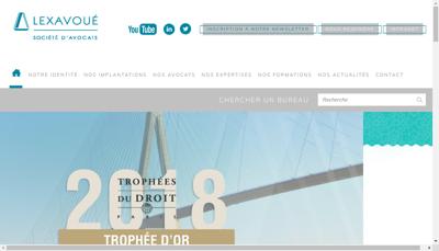 Capture d'écran du site de Lexavoue Participations