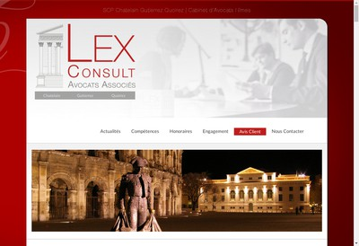 Site internet de Lex Consult