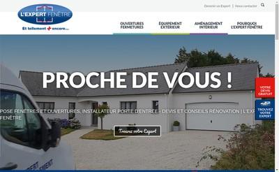 Site internet de L'Expert Fenetre
