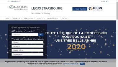 Site internet de Lexus Strasbourg