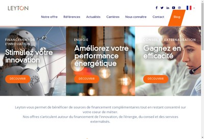 Site internet de Leyton France