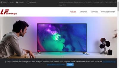 Site internet de LF Electronique