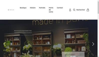 Site internet de Made In Paris