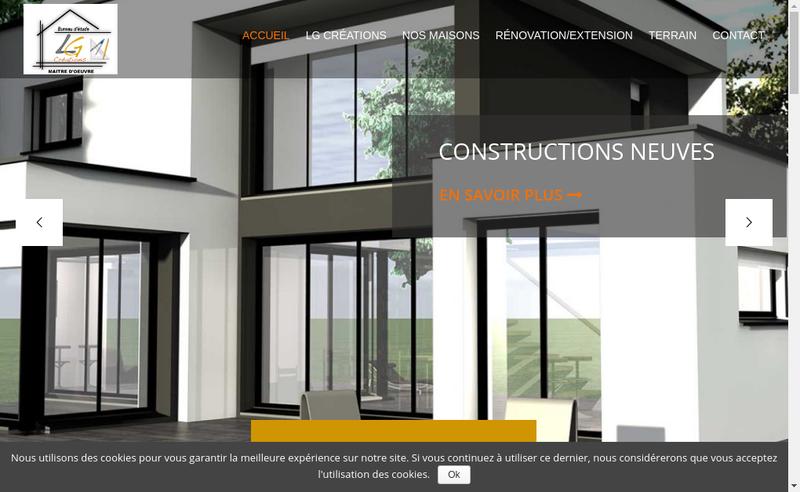 Capture d'écran du site de Lg Creations