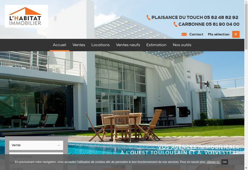 Capture d'écran du site de L'Habitat Immobilier