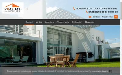 Site internet de L'Habitat Immobilier