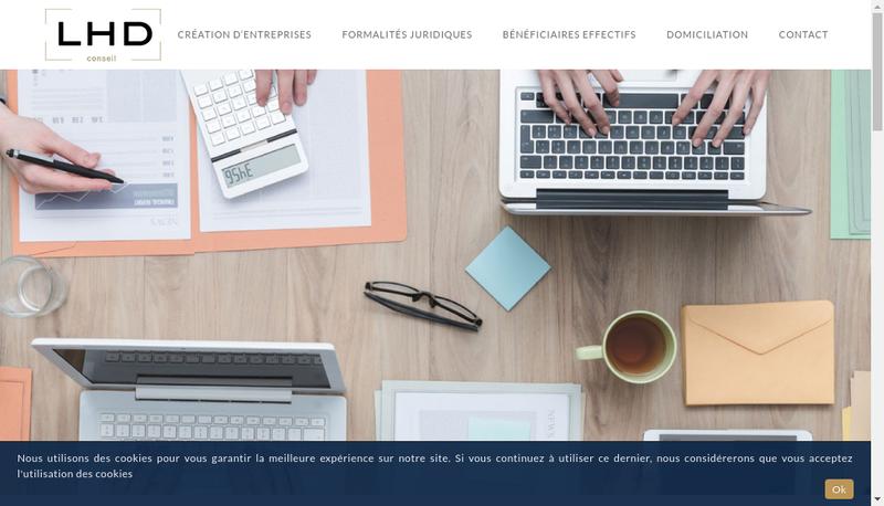 Capture d'écran du site de LHD CONSEIL