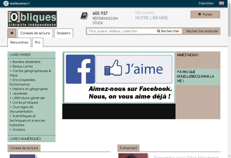 Capture d'écran du site de Obliques