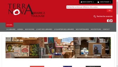 Site internet de Librairie Terra Nova