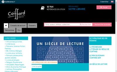 Site internet de Librairie Coiffard