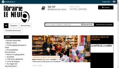 Site internet de Librairie le Neuf