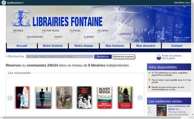 Site internet de Librairie Fontaine