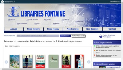 Site internet de Librairie Fontaine Victor Hugo
