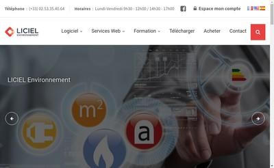 Site internet de Liciel Environnement