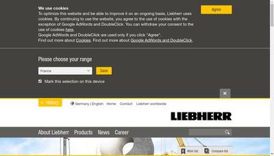 Site internet de Liebherr-Mining Equipment Colmar