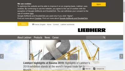 Site internet de Liebherr-Aerospace & Transportation SAS