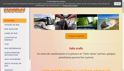 Site internet de Transports Lieures