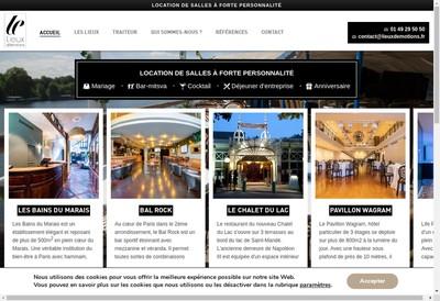 Site internet de Lieux d'Emotions
